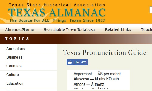 Texas Location Pronunciation Guide | Genealogy Search Tip